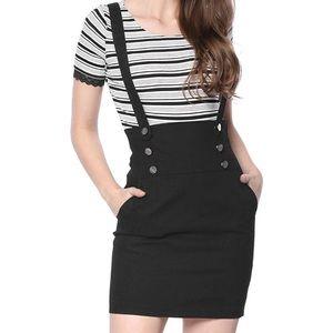 Women's High Waist Suspender Skirt